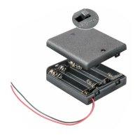 Batteriehalter für 4xAA Mignon Batterien 6V  (4x 1.5V)