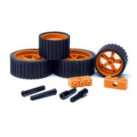 MeeperBOT 2.0 Rad Set inkl. Achsen  - Blaze Orange