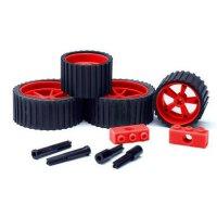 MeeperBOT 2.0 Rad Set inkl. Achsen  - Brick Red