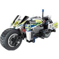 Teknotoys Active Bricks Pullback Polizei- Motorrad