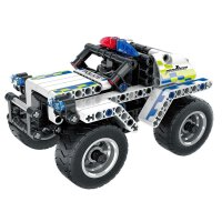 Teknotoys Active Bricks Pullback Polizeiauto