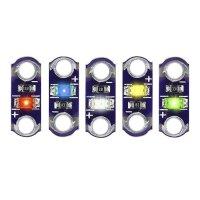 LED Set 5 Stück Rot/Blau/Gelb/Grün/Weiß...